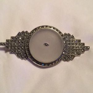 Judith Jacks Vintage Sterling Silver Marcasite Pin